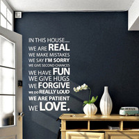 In this House Vinyl Wall Sticker | Vinyl Impression
