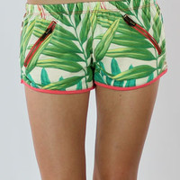 Chaser Track Shorts in Tropical Print | Chaser Shorts