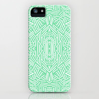 Radiate Celadon iPhone & iPod Case by Jacqueline Maldonado