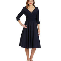 Jessica Howard Portrait-Collar Dress