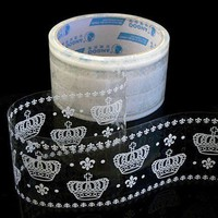 White Lace Transparent Deco Tape  Gothic Crown 08 by charmstore
