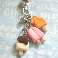 popsicles keychain/bag charm