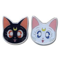 Sailor Moon Luna &amp; Artemis (Set of 2) Pins:Amazon:Everything Else