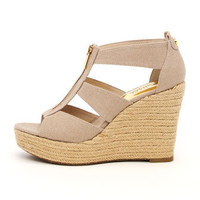 MICHAEL Michael Kors  Damita Canvas Wedge Espadrille