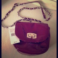 BNWT Steve Madden Purple Chain Strap Crossbody Handbag