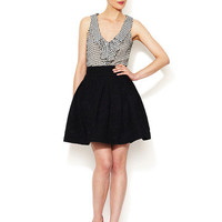 Pleated Textured Skirt by Zac Posen at Gilt