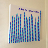 Canvas Art Print - New York State of Mind - Graph Drawing, original art, art on canvas, New York City