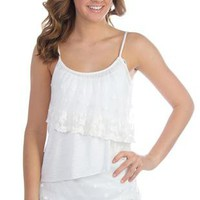 tank top with crochet tiers - 1000045289 - debshops.com