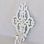 Shabby Chic White Metal Wall Sconce