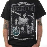 Led Zeppelin, T-Shirt, Framed Group