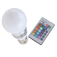 Amazon.com: Energy Saving 3W 16 color LED Light Bulb E27 with Remote Control: Everything Else