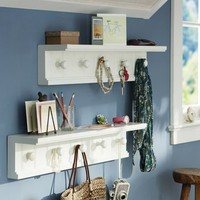 Beadboard Peg Shelf