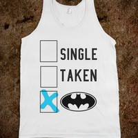 Single Taken-Unisex White Tank
