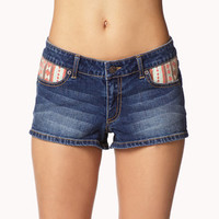 Chinle Print Denim Shorts