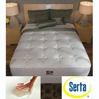 Serta Delphina Cushion Firm Queen-size Mattress Set | Overstock.com