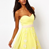 Little Mistress Prom Dress in Floral Embroidery at asos.com