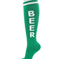 Green Beer Unisex Socks - Whimsical &amp; Unique Gift Ideas for the Coolest Gift Givers