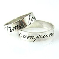 Doctor Who Time Lord &amp; Companion Wedding Bands - Spiffing Jewelry