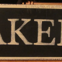 Vintage Inspired BAKERY Handpainted Wooden Sign Wall Decor Shabby Chic - can be Custom Ordered