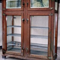 Antique Bakery Display Case Icebox Cabinet