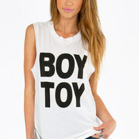 Petals & Peacocks Boy Toy Tank $46