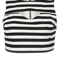Petite Stripe Cut Out Crop Top - New In This Week - New In - Topshop