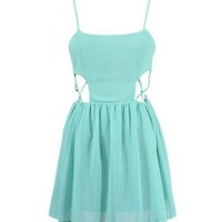 Sides Cut Out Dress - Kely Clothing