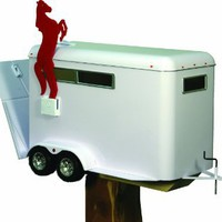 River's Edge Horse Trailer Mailbox with Tamper Proof Mounting Hardware