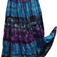 Amazon.com: BombayFashions DISCOUNTED Full/Ankle Length LINED Tie-Dye SOLID Bohemian Gypsy Lightweight Skirt: Clothing