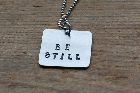 Be Still Christian Necklace by gracetags on Etsy
