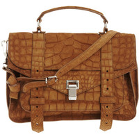 Proenza Schouler PS1 Medium Crocodile Suede at Barneys.com