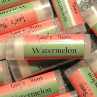 Lip Balm, Watermelon - Stocking Stuffer, Shower Favor, Wedding Favor, Anytime Zero Calorie Treat