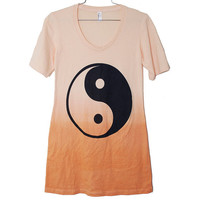 The Ying Yang Dip Dyed Gradient Dress -- Medium