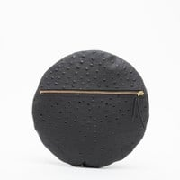 Ann-Ya / Black Ostrich Sphere Clutch