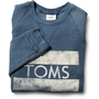 Women's Heather Dark Blue TOMS Classic Crew