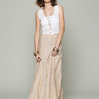 Free People Sunny Stripe Linen Maxi