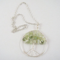 Serpentine Tree of Life Pendant Necklace
