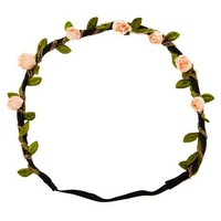 Rosebuds &amp; Chains Flower Headband