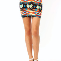 printed-mini-skirt BLACKORG - GoJane.com