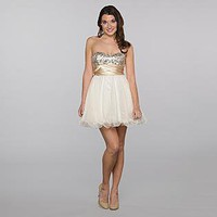 Speechless- -Junior's Sequin Bodice Prom Dress-Clothing-Juniors-Dresses