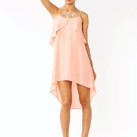 high-low-ruffle-dress PEACH - GoJane.com