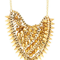spiked-box-chain-necklace-set GOLD GOLDPEWTER - GoJane.com