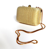 Gold Purse / Gold Bag / Gold Clutch / 80s Purse / Evening Bag  / Vintage Accessories / Women Accessories / Formal Bag / Evening Bag