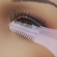 Plastic Eye Mascara Guard Eyelash and Eyebrow Combs--Random Color
