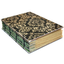 Elegant Black and Tan Glittered Coptic  Bound Journal