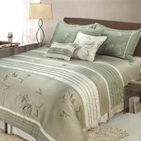 Jenny George Designs Sansai 7-piece Full/ Queen-size Comforter Set | Overstock.com