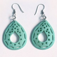 Handmade Earrings - Taj earring green