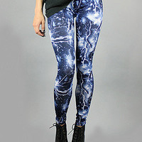 Forever Strung Lightning LeggingsBlue : Karmaloop.com - Global Concrete Culture
