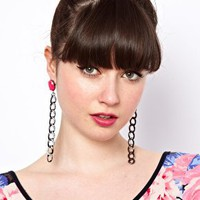 ASOS Curb Chain Link Drop Earring at asos.com