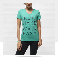 "Check it out. I found this Nike ""Run Hard Walk Easy"" Women's T-Shirt at Nike online."